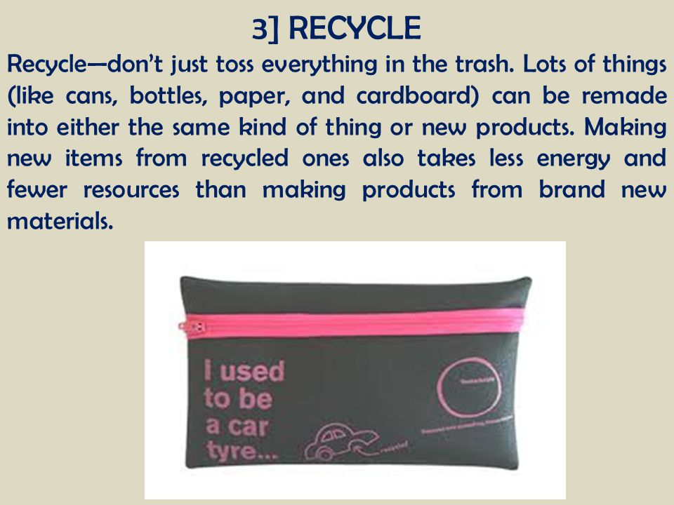 3] RECYCLE